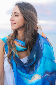 Blue sunset women scarf Australia
