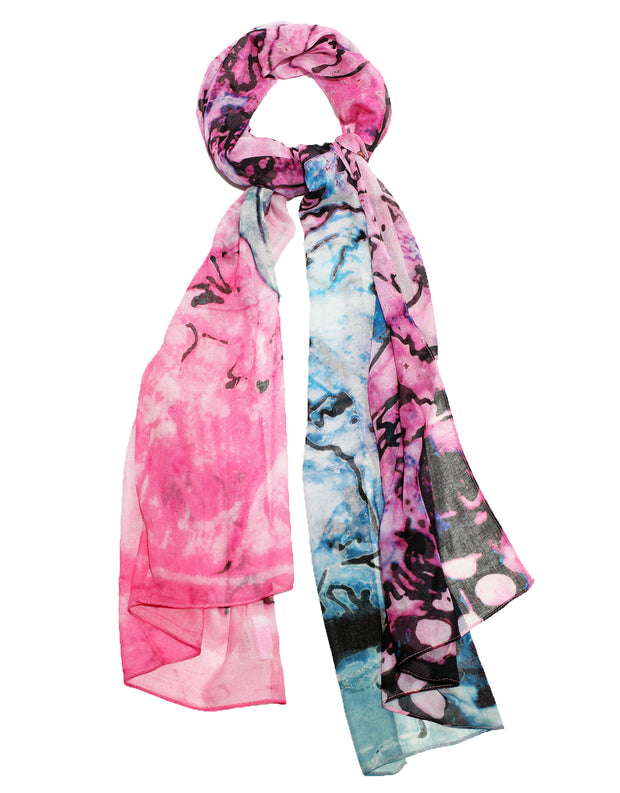 colorful scarf designed by the artist Kristi Kohut