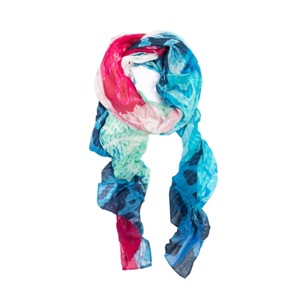 women scarf designed by artists can be used as a head scarf, sarong or scarf