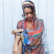 Boho scarf designed by artist