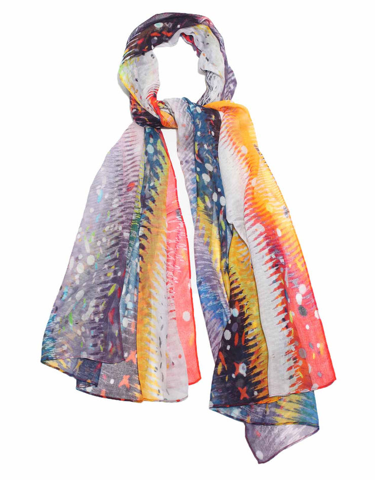 colorful scarf designed by artist Milka Rodic