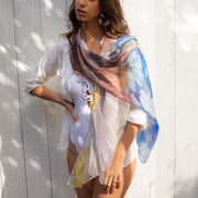 Silk scarf designed by artist