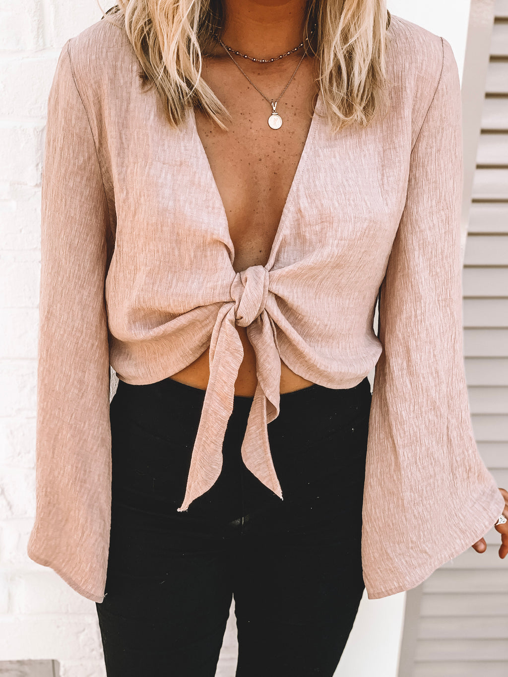 Life's A Peach Woven Crop - FINAL SALE