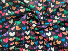 Load image into Gallery viewer, Watercolor Hearts (Liverpool Fabric - RTS) - AydensRainBOW