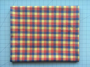 Orange and Gold Plaid (Liverpool Fabric - RTS) - AydensRainBOW