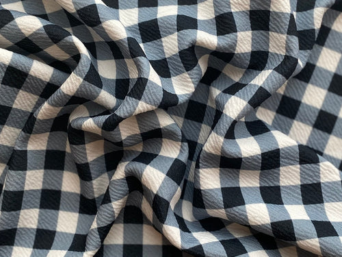 Black and White Plaid (Liverpool Fabric - RTS) - AydensRainBOW