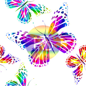 Watercolor Butterfly (Preorder Fabric) - AydensRainBOW