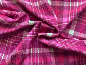 Pink Plaid (Liverpool Fabric - RTS) - AydensRainBOW