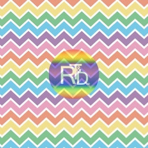 Pastel Chevron Stripes (Preorder Fabric) - AydensRainBOW