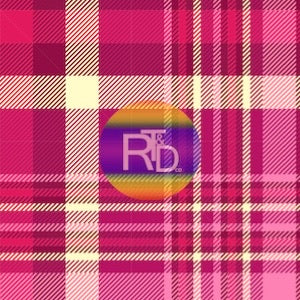 Pink Plaid (Preorder Fabric) - AydensRainBOW