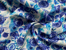 Load image into Gallery viewer, Indigo Floral (Liverpool Fabric - RTS)