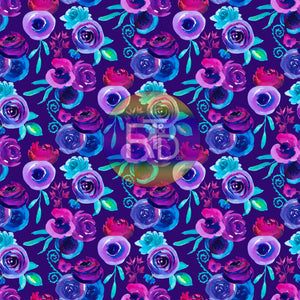 Purple/Indigo Floral - Purple BG (Preorder Fabric)