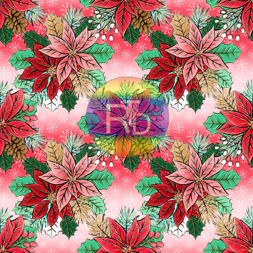 Poinsettia - Red/White BG (Preorder Fabric)