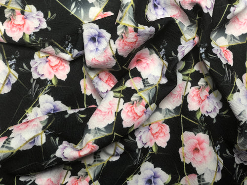 Abstract Jewel Floral Dark (DBP Fabric - RTS) - AydensRainBOW