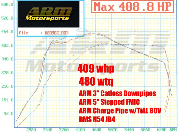 335i Intercooler 5in stepped FMIC Kit Dyno