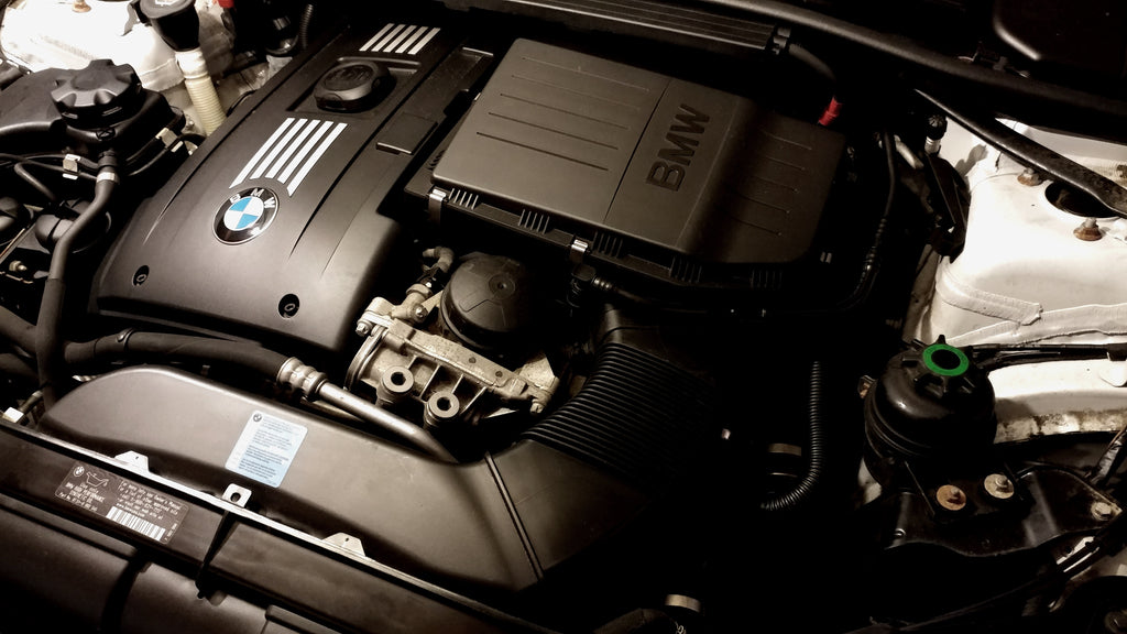 Stock N54 engine bay 335i engine