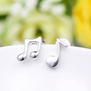Quaver Silver Plated Earrings