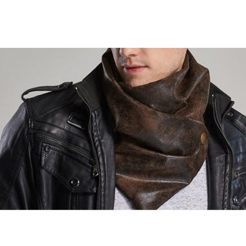 Luxury Leather Men's Scarf