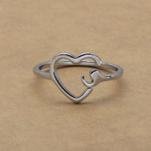 Heart Semicolon Ring