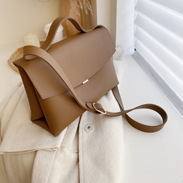 Vintage Flap Messenger Shoulder Bag