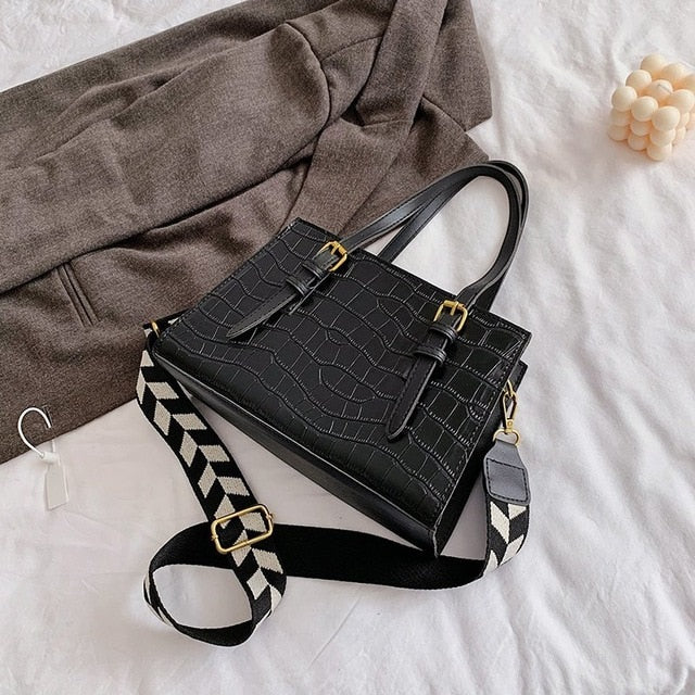 Low Trapezoid Shoulder Bag