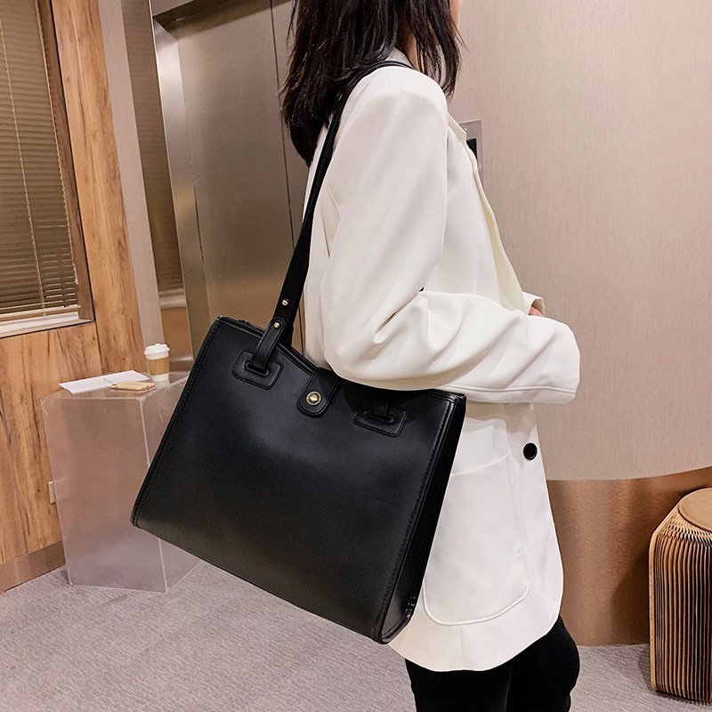 Solid Color Square Shoulder Bag
