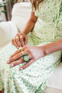 Lime Obsession Ring