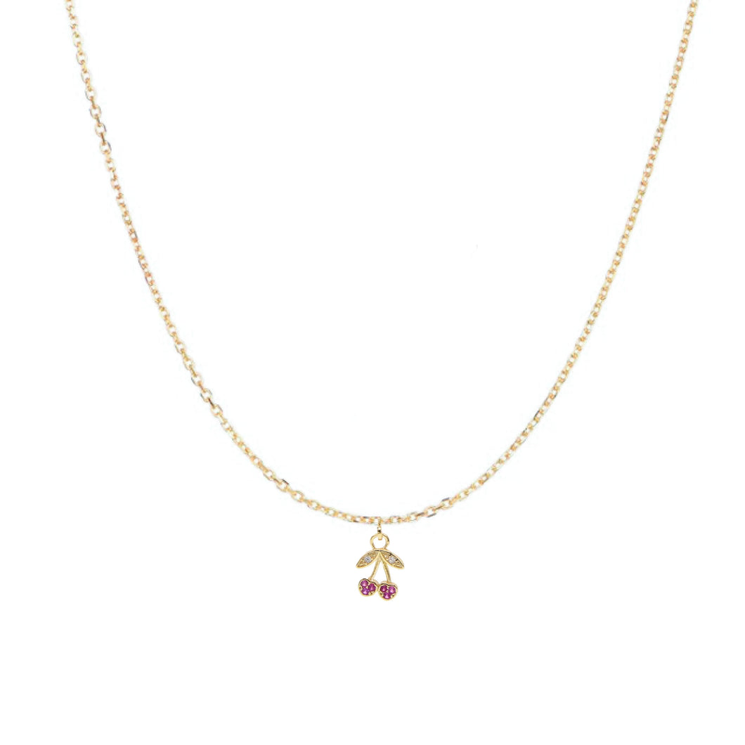 Drop Cherry Necklace