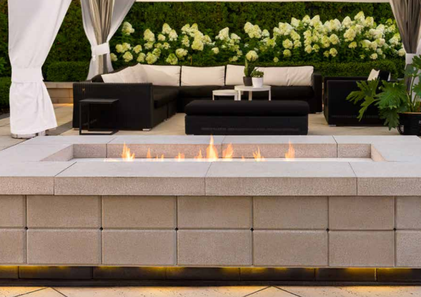 Contemporary Backyard Fire