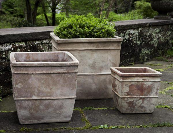 Photo of Campania ANTICO SQUARE PLANTER - Marquis Gardens