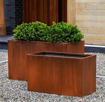 Photo of Campania STEEL BOX PLANTER - Marquis Gardens