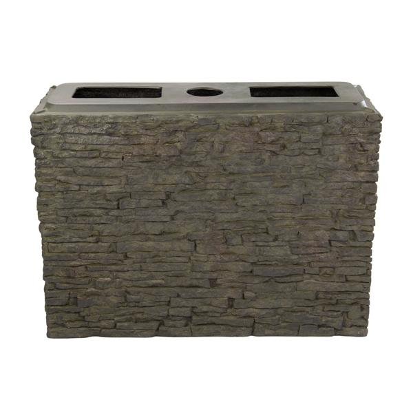 Aquascape Large Straight Stacked Slate Wall Base - Marquis Gardens