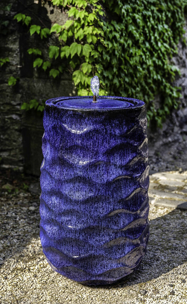 Campania Tall Rumba Fountain, Riviera Blue