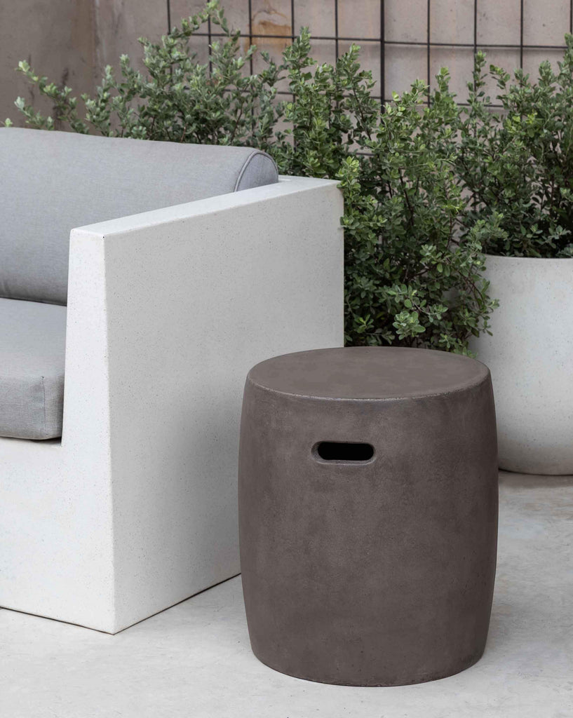 Photo of Urban Round Garden Table-Fiber Cement-S/1 - Marquis Gardens