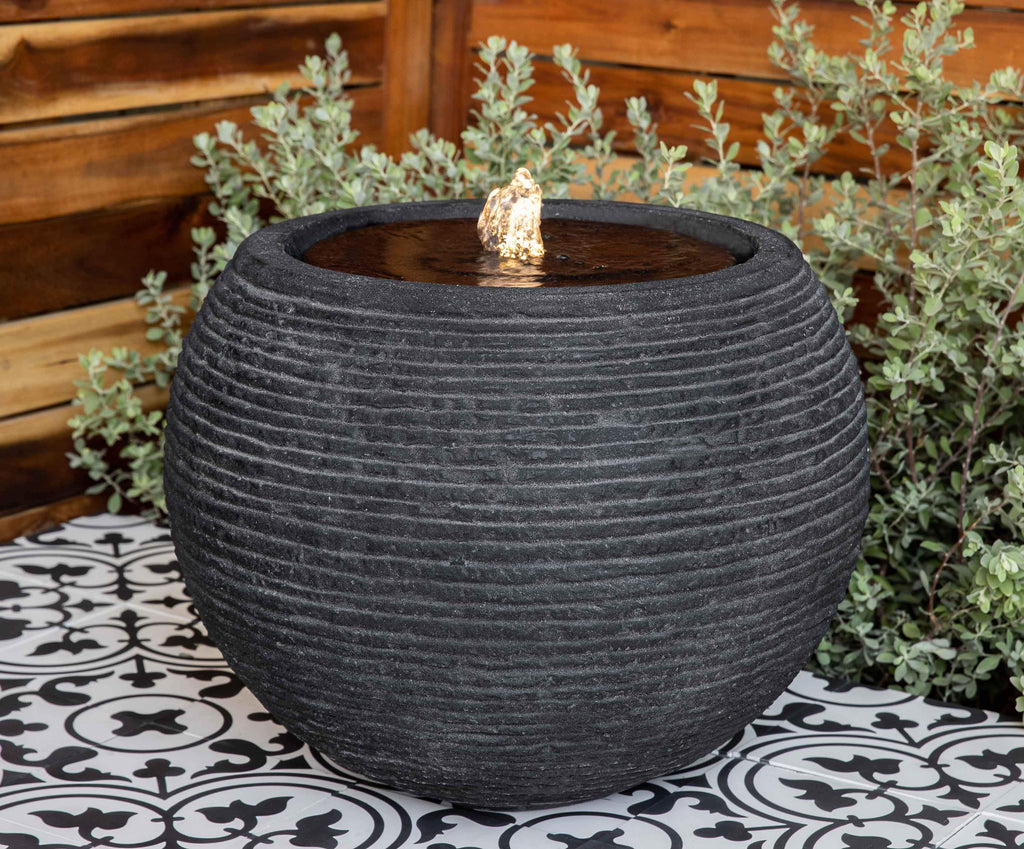 Photo of Sonora Large Fountain - Black Stone Ledge - S/1 - Marquis Gardens