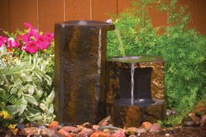 Photo of Aquascape Set of 3 Keyed Basalt Columns - Marquis Gardens
