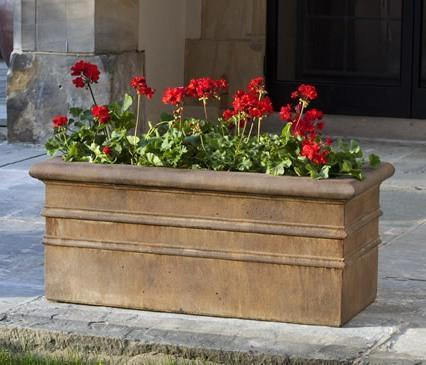 Photo of Campania Classic Rolled Rim Window Box - Marquis Gardens