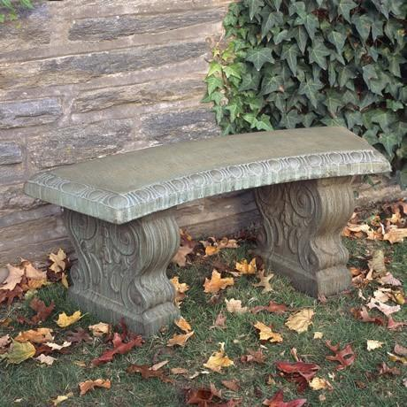 Photo of Campania Curved Traditional Bench - Marquis Gardens