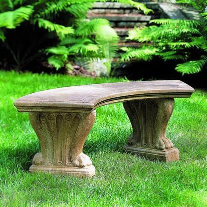 Photo of Campania Curved West Chester Bench - Marquis Gardens