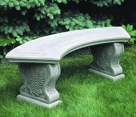 Photo of Campania Curved Woodland Ferns Bench - Marquis Gardens