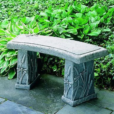 Photo of Campania Dragonfly Curved Bench - Marquis Gardens