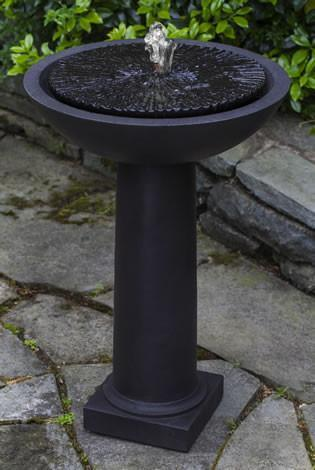 Photo of Campania Equinox Birdbath Fountain - Marquis Gardens