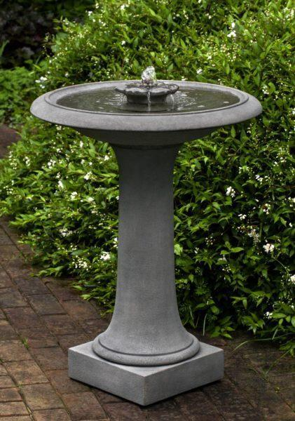Photo of Campania Camellia Birdbath Fountain - Marquis Gardens