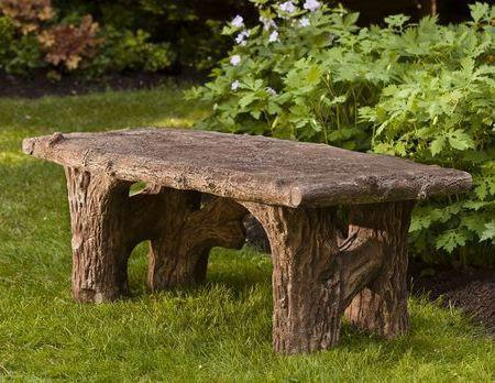 Photo of Campania Faux Bois Bench - Marquis Gardens