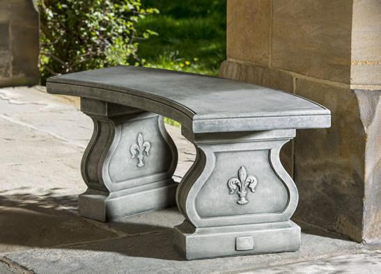 Photo of Campania Fleur De Lys Curved Bench - Marquis Gardens