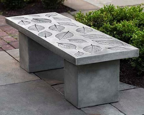 Photo of Campania Hydrangea Leaf Bench - Marquis Gardens