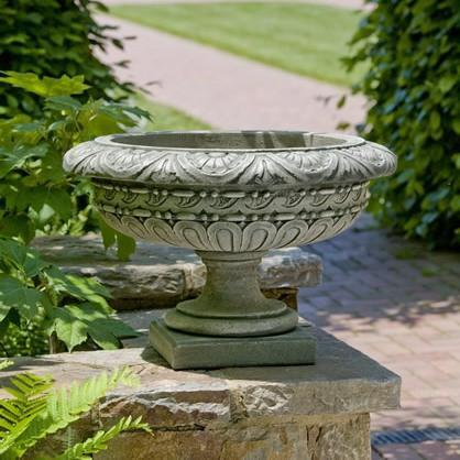 Photo of Campania Longwood Rosette Urn - Marquis Gardens