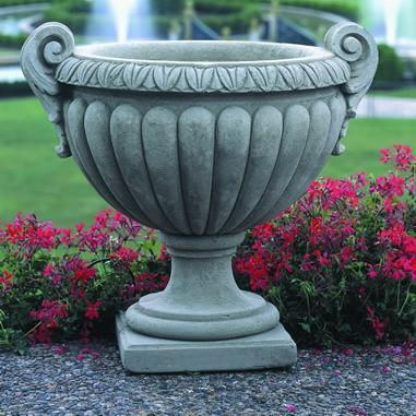 Photo of Campania Longwood Volute Handle Urn - Marquis Gardens