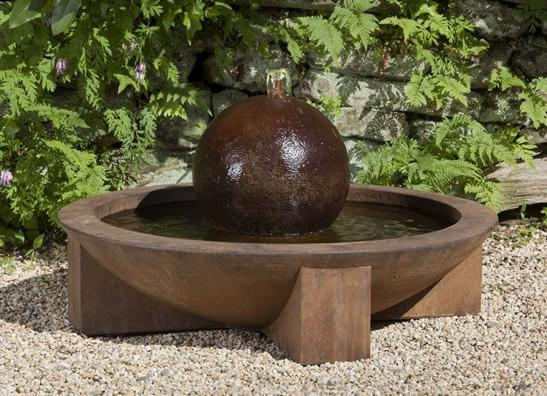 Photo of Campania Low Zen Sphere Fountain - Marquis Gardens