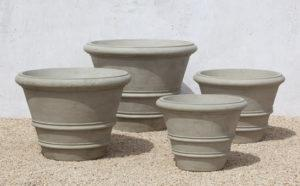 Campania Classic Rolled Rim Planters Large